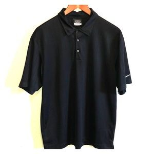 NIKE GOLF Dri-Fit Black Polo Shirt